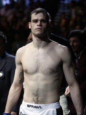 Tamdan McCrory before his match against Dustin Hazelett at UFC 91 on Nov. 15, 2008, in Las Vegas.