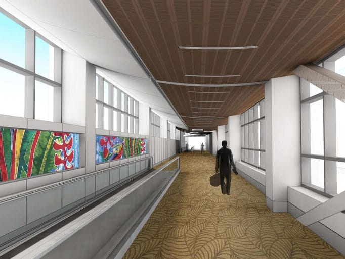 An artist's rendering shows an image of a corridor