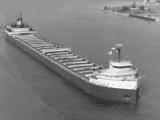 The 729-foot-long Edmund Fitzgerald sank during a storm on Nov. 10, 1975, killing its entire crew of 29.
