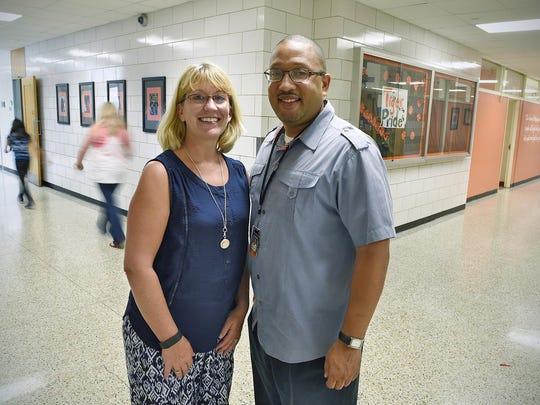 Principals Brenda Blackmore, North Junior High School,