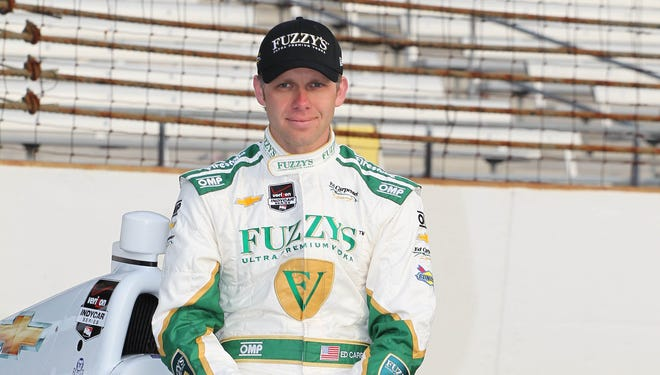 Ed Carpenter will start from the pole in today's 98th running of the Indianapolis 500.