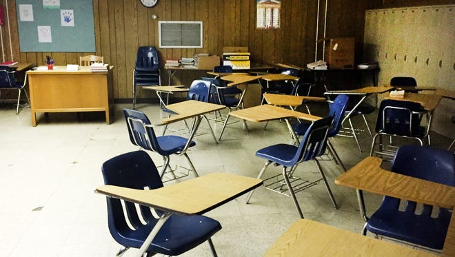 An in-school suspension room in a Caddo Parish School.