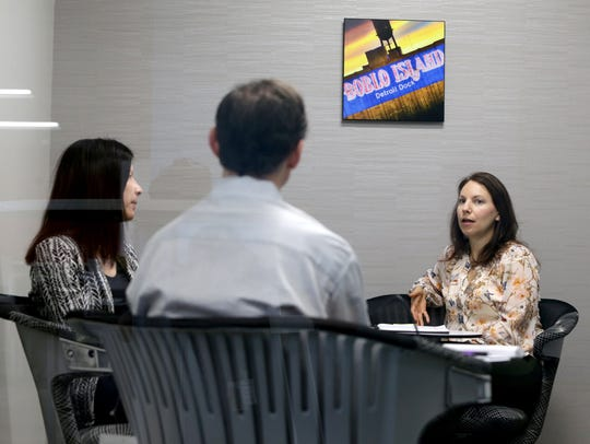(L to R) Patricia Maguire, a VP of digital marketing