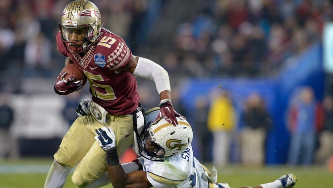 Florida State freshman Travis Rudolph is one of several young players who has stepped up for the Seminoles this season.