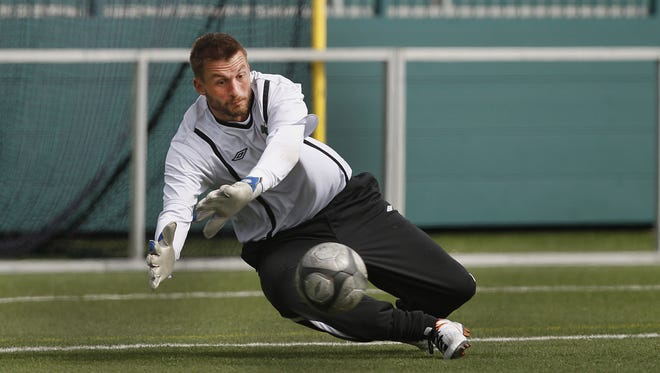 Kristian Nicht was the USL Goalkeeper of the Year for Rochester in 2012.