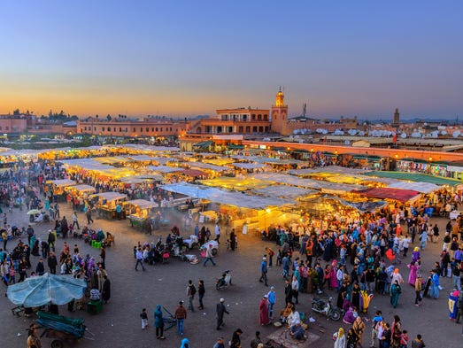 Morocco: Visit the famous spice markets and entrench