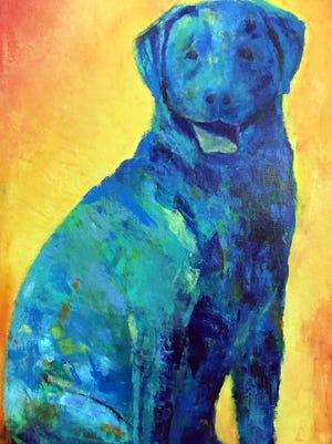 "Diana LaMorris' painting, ""Another Walk"" is on display at Steel City Artworks in Pueblo."