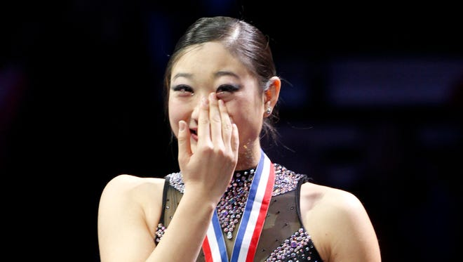 Mirai Nagasu finished third at the U.S. Championships, but that didn't help her earn a spot on the Olympic team.