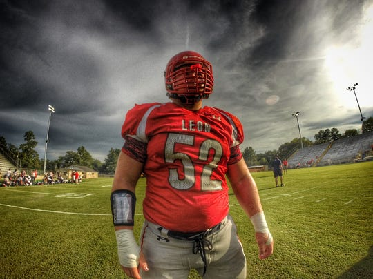 Leon defensive tackle Gabe Beyer is coming off a school-record