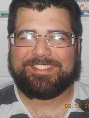 Matthew Heimbach's booking photo from a 2018 arrest in Paoli, Indiana.