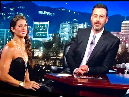 Danica Patrick and Jimmy Kimmel