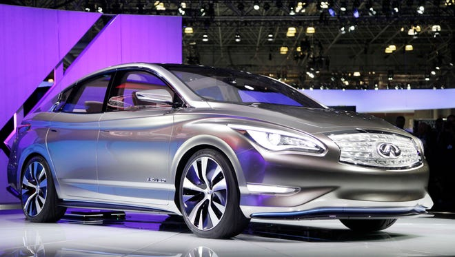 Infiniti LE Concept is unveiled April 2012  at the New York International Auto Show.