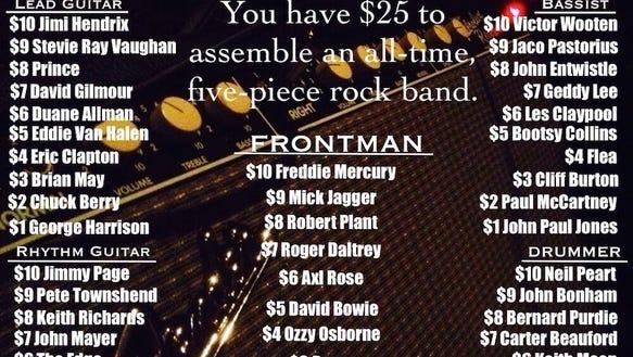 rock band picks