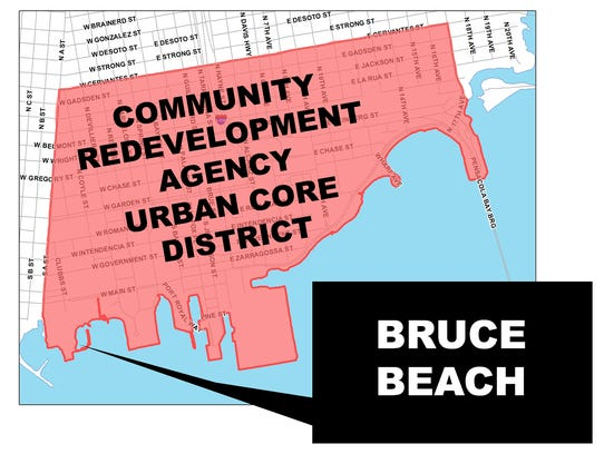 Bruce Beach falls within the Community Redevelopment