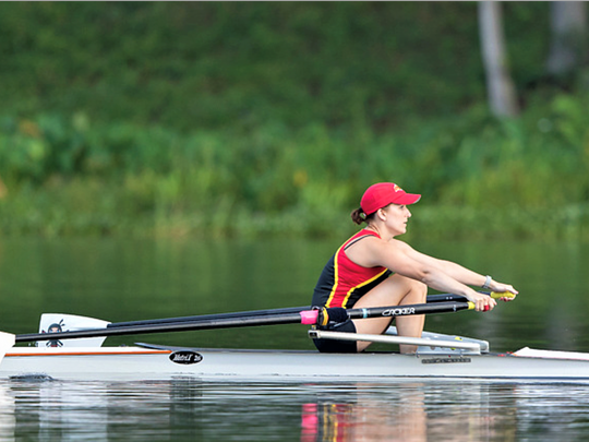On the water at the Masters Regional Championship, Nealon won the women's novice single race.