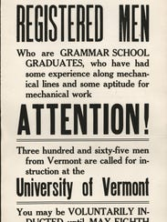 World War I recruitment poster from 1917 looking for