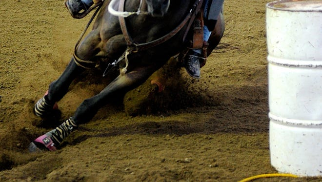 Barrel racers will pound the dirt at the Bridwell Center Sunday.