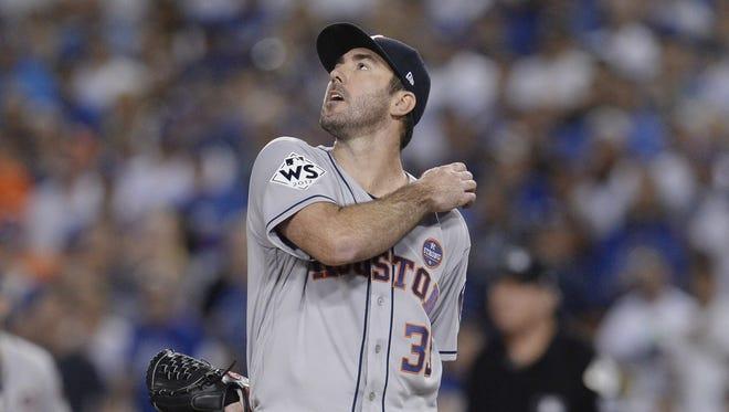 Houston Astros pitcher Justin Verlander.