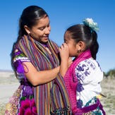 Maria Conchita Pozar González hopes to pass on the traditional Purepecha embroidery to her daughter Jacqueline Zacarias Pozar in the same way she was taught by her mother.