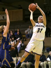 Lexington's Julia Kocher is third in the area in blocks with 26.