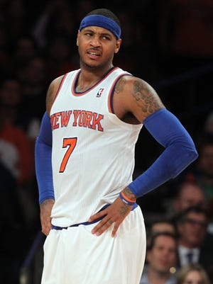 Carmelo Anthony's Knicks are one of many underachieving Eastern Conference teams right now.