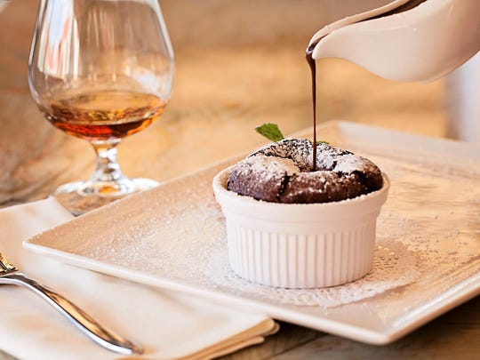 Serravalle also suggests a rich dessert, such as chocolate soufflé or chocolate mousse as an accompaniment.