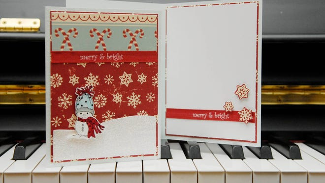 A holiday card made by Lizzy Giggs.