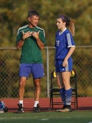 Pearl River girls soccer coach Tim Peabody lightened
