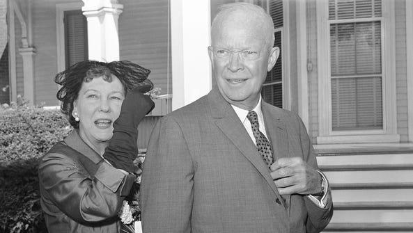 President Dwight Eisenhower and Mamie Eisenhower in