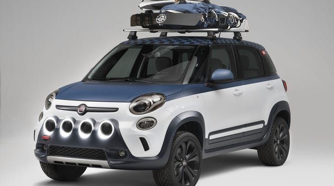 At the Vans U.S. Open of Surfing in Huntington Beach, Calif., Fiat showed a 500L made to look like a Vans shoe