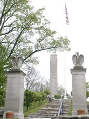 2004/04/24. GN - Delhi. The tomb of President William Henry Harrison stands guard over North Bend Ohio. photo by Malinda Hartong for The Enquirer.
