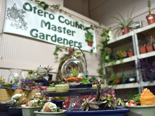Otero County Master Gardeners have an entire booth worth of plants for visitors to purchase.