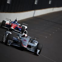 Juan Pablo Montoya (2) will try to win his second straight Indy 500 in the monumental 100th running of the race.