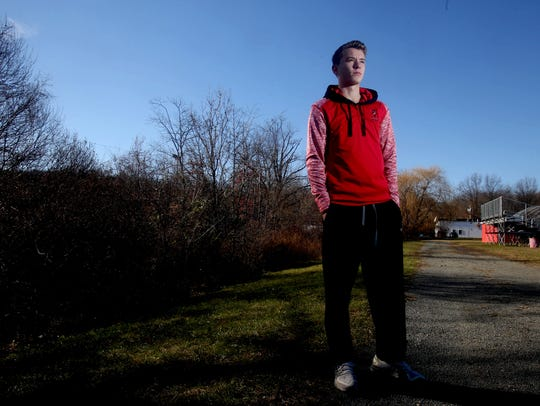 Patrick Tuohy of North Rockland High School, photographed
