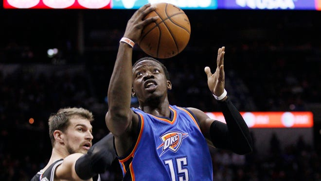 Oklahoma City Thunder point guard Reggie Jackson (15) is hoping for a chance to start.