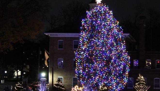 Nutley Township lights up the municipal Christmas tree on Sunday, Dec. 4.
