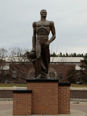The Spartan statue on Michigan State's campus in East Lansing.
