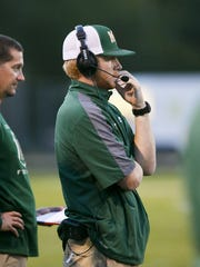 McKay Coach Josh Riddell on the sidelines of a game