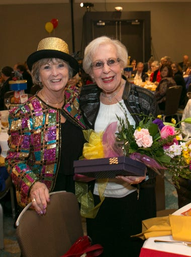 Mary Alice Victorino, (left) American Cancer Society Celebration of Life Fashion Show event chair with philanthropist Nancy Ausonio (right) who was honored for her dedication to fighting cancer.