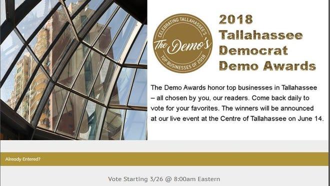 2018 Demo ballot