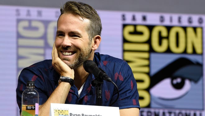 """Ryan Reynolds attends the """"Deadpool 2"""" panel at Comic-Con."""