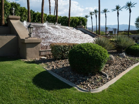 The landscaping at Mission Pointe in Rancho Mirage