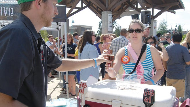The annual beer festival at Uptown shopping center brings out the sunshine and suds for those of a drinking age. This year's festival is scheduled to take place Saturday, May 20.
