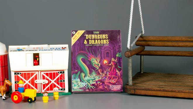 The three toys inducted into this year's Toy Hall of Fame are swing, Dungeons & Dragons and Fisher Price's Little People.