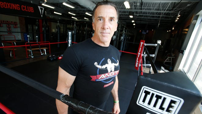 Rob Fletcher of Suffern at the Title Boxing Club in Ardsley on June 23, 2016.   Fletcher who is a personal trainer is suing Sylvester Stallone, NBC and others, alleging they stole his idea for a reality TV show.