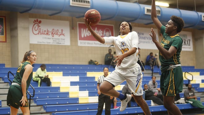 TCC guard Jas Hill leads the Eagles with 24 points per game. She had 34 against Palm Beach State on Sunday.