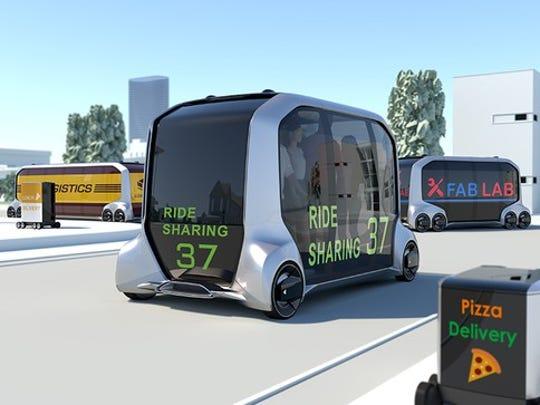 Toyota's vision of a mobile future using e-Palette.