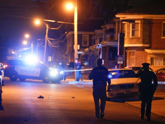 Wilmington police investigate a shooting in the 2400 block of N. Monroe Street in Wilmington Wednesday, reported shortly before 11 p.m.