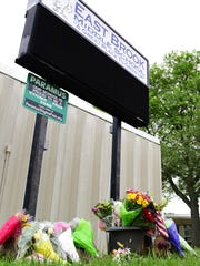A memorial for the victims of the fatal bus crash at