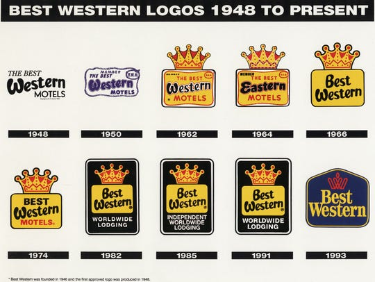 Best Western's logo changes through the years.